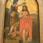 ايقونة عماد السيد المسيح - حامل الأيقونات كنيسة الملاك ميخائيل